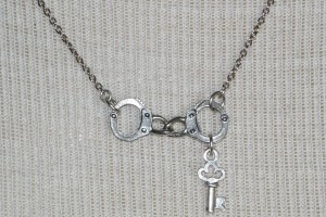 Jewelry , 7 Cool Handcuff Key Necklace : Silver handcuffs