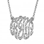 Swirly Monogram Necklace , 8 Charming Initial Nameplate Necklace In Fashion Category