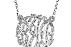 Fashion , 8 Charming Initial Nameplate Necklace : Swirly Monogram Necklace