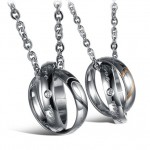 Two Half Heart Pendants , 8 Lovely Two Half Heart Necklaces For Couples In Jewelry Category