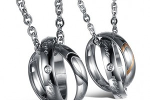 Jewelry , 8 Lovely Two Half Heart Necklaces For Couples : Two Half Heart Pendants