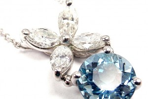 Jewelry , 8 Charming Tiffany Aquamarine Necklace :  aquamarine stone