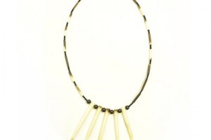 Jewelry , 8 Cool 90s Choker Necklace : beaded faux bone necklace