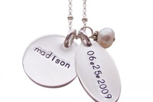 Jewelry , 8 Cool Charm Necklaces For Moms : birthdate multi charm necklace