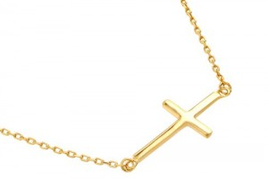 Jewelry , 8 Nice Gold Sideways Cross Necklaces For Women :  cross necklaces for men