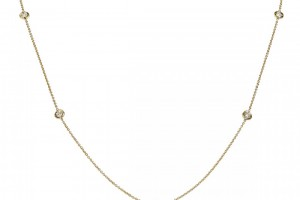 Jewelry , 8 Nice Roberto Coin Diamond Station Necklace :  diamond necklace
