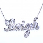 diamond necklace , 8 Nice Nameplate Necklace White Gold In Jewelry Category