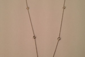 Jewelry , 8 Nice Roberto Coin Diamond Station Necklace :  diamond rings