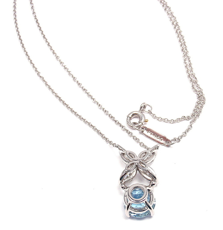 8 Charming Tiffany Aquamarine Necklace in Jewelry