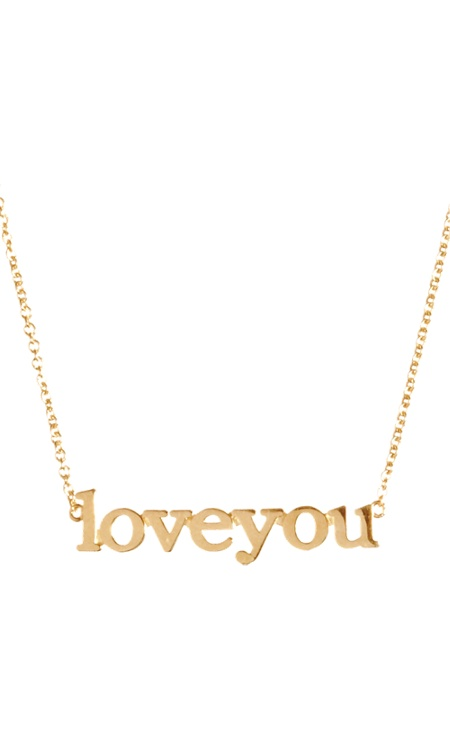 7 Fabulous Jennifer Meyer Love You Necklace in Jewelry