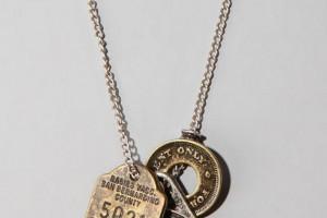 Jewelry , 8 Nice Obey Two Feather Necklace :  gemstone jewelry