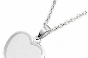 Jewelry , 8 Charming Engravable Heart Necklaces :  handmade jewelry