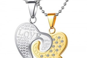Jewelry , 8 Lovely Two Half Heart Necklaces For Couples :  handmade jewelry