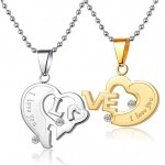 heart diamond necklaces , 8 Lovely Two Half Heart Necklaces For Couples In Jewelry Category