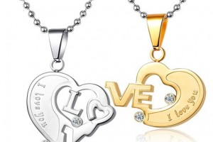 Jewelry , 8 Lovely Two Half Heart Necklaces For Couples :  heart diamond necklaces