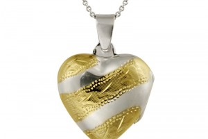 Jewelry , 8 Charming Engravable Heart Necklaces : heart locket pendant style