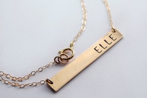 Fashion , 8 Charming Initial Nameplate Necklace :  initial necklace