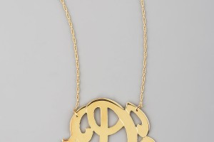 Jewelry , 7 Fabulous Jennifer Zeuner Three initial Pendant Necklace : jennifer zeuner swirly initial necklace