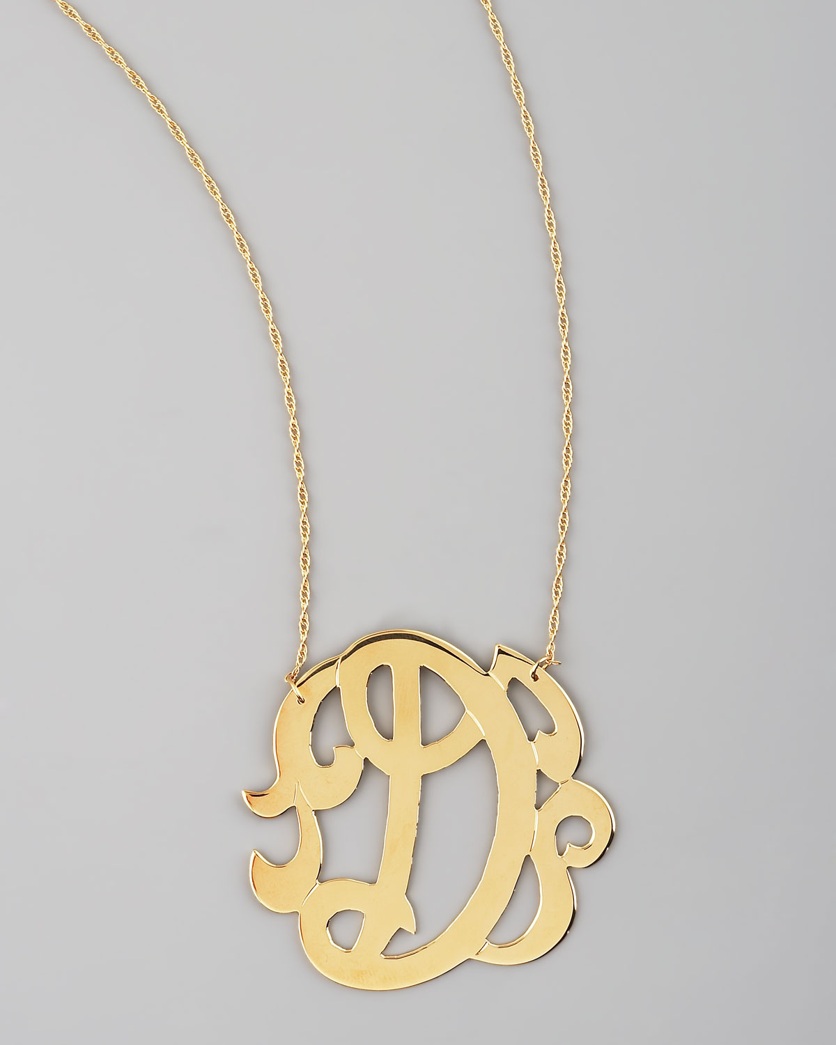 Jennifer Zeuner Three-Initial Pendant Necklace zWxqvi2aaa
