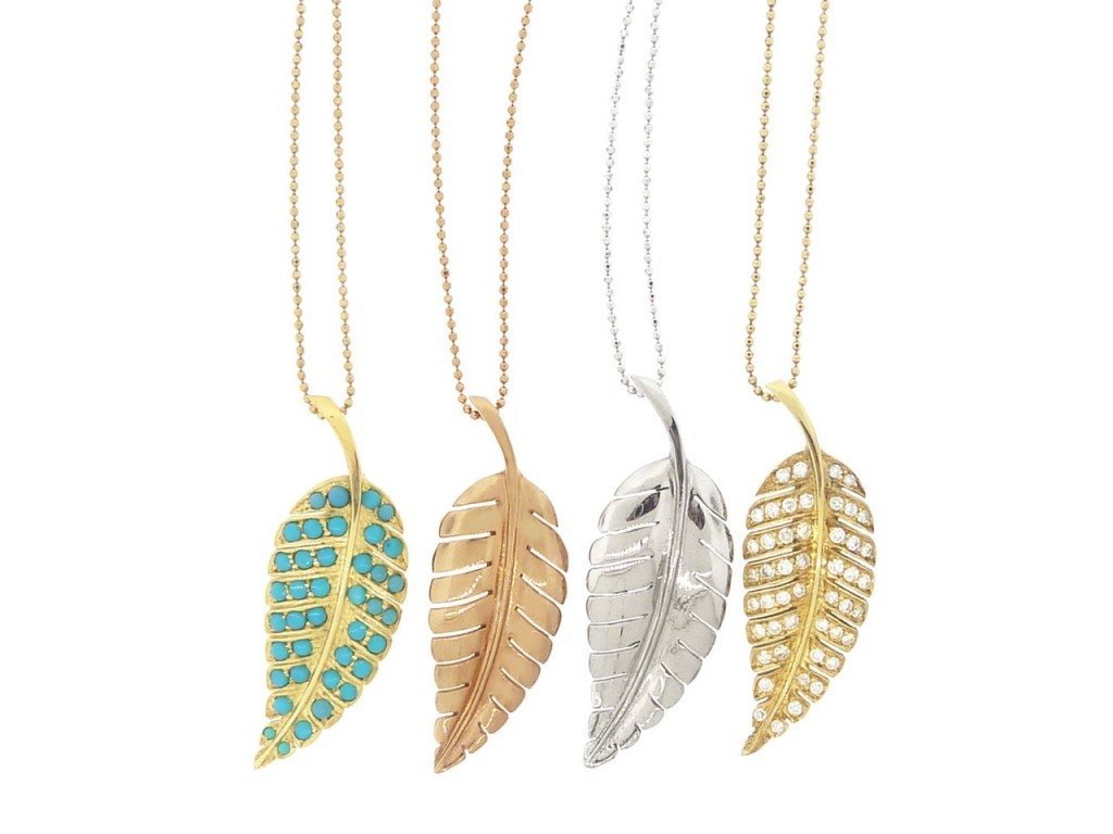 Jewelry , 8 Beautiful Jennifer Meyer Leaf Necklace :  Jewelry Design