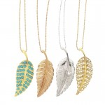 jewelry design , 8 Beautiful Jennifer Meyer Leaf Necklace In Jewelry Category
