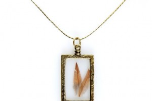 Jewelry , 8 Nice Obey Two Feather Necklace :  jewelry gold
