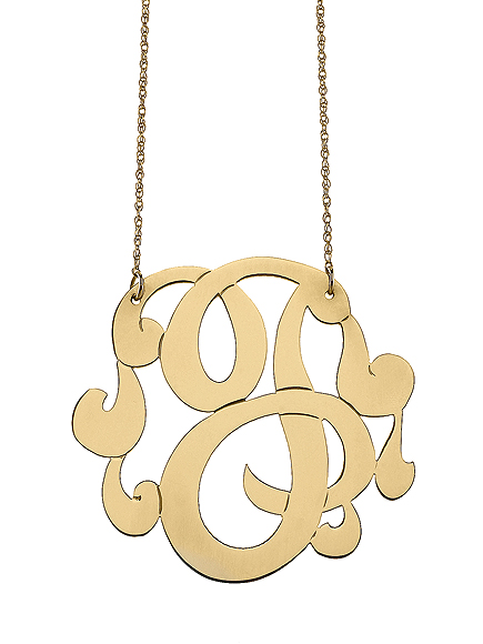 7 Lauren Conrad Monogram Necklace in Jewelry