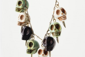 Fashion , 8 Unique Pamela Love Skull Necklace : multicolor skull necklace