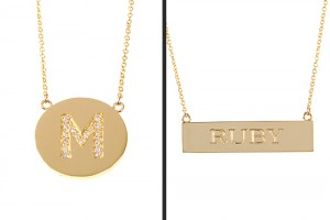 Fashion , 8 Charming Initial Nameplate Necklace : nameplate necklace