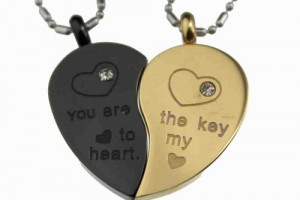 500x415px 8 Lovely Two Half Heart Necklaces For Couples Picture in Jewelry