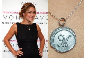 Jewelry , 7 Lauren Conrad Monogram Necklace :  pearl necklace