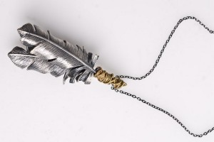 Jewelry , 8 Nice Obey Two Feather Necklace :  pearl necklace