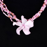 pink pretty clay hawaiian flower , 8 Beautiful Hawaiian Flower Necklaces In Jewelry Category