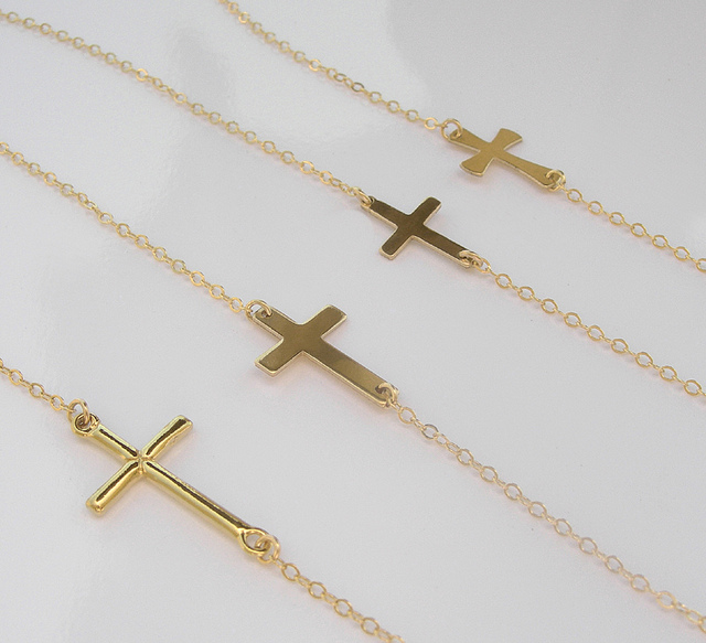 7f6e4ca3220 Sideways Cross Necklaces Woman Fashion Nice. Prev. Nice Large Sterling  Silver ...