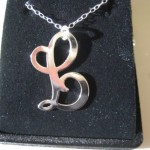 silver jewelry , 7 Lauren Conrad Monogram Necklace In Jewelry Category