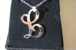 Jewelry , 7 Lauren Conrad Monogram Necklace :  silver jewelry