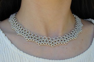 Jewelry , 9 Charming Chainmail Necklace Patterns :  swarovski jewelry