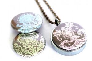 Jewelry , 8 Charming Grandma Locket Necklace :  turquoise jewelry