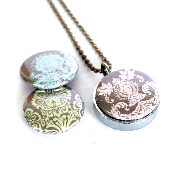 Jewelry , 8 Charming Grandma Locket Necklace :  Turquoise Jewelry