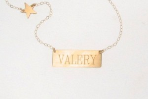 Jewelry , 8 Good 14K Nameplate Necklace : 14K Gold Nameplate