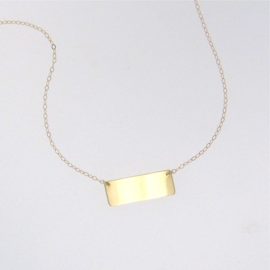 8 Good 14K Nameplate Necklace in Jewelry