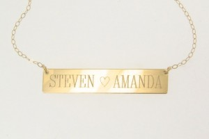 Jewelry , 8 Good 14K Nameplate Necklace : 14K Gold Nameplate Necklace