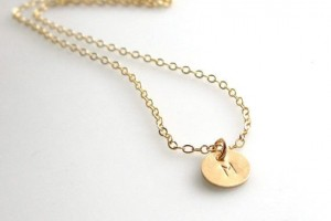 Jewelry , 8 Charming 14kt Gold Initial Necklace : 14Kt Gold Initial Necklace