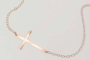 Jewelry , 8 Stunning Kelly Ripa Cross Necklace : 14k Rose Gold Cross Necklace