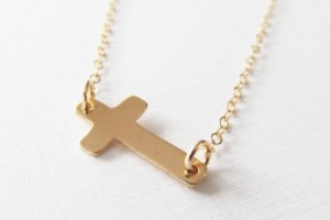Jewelry , 8 Best 14kt Gold Sideways Cross Necklace : 14kt Gold Sideways Cross Necklace