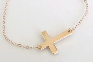 771x772px 8 Best 14kt Gold Sideways Cross Necklace Picture in Jewelry