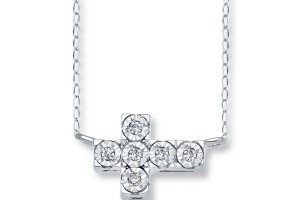 Jewelry , 8 Awesome Sterling Silver Sideway Cross Necklace : Accents Sterling Silver
