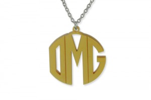 500x500px 8 Best Acrylic Block Monogram Necklace Picture in Jewelry