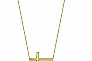 Jewelry , 8 Best 14kt Gold Sideways Cross Necklace : Adjustable Sideways Cross Necklace