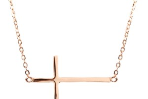 Jewelry , 7 Lovely Horizontal Cross Necklace Meaning : Ananda Rose Gold Cross Necklace
